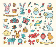 Easter - cartoon icons set Stock Image