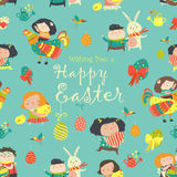 Easter cartoon seamless pattern Stock Photography