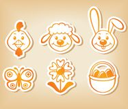 Easter cartoon set Stock Photos