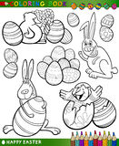 Easter cartoon themes for coloring Stock Photography