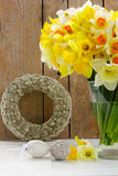 Easter catkins wreath Royalty Free Stock Images