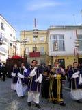 EASTER CELEBRATION IN JEREZ, SPAIN. Jerez de la Frontera easter celebration, Spain Europe.During this celebration, the Easter brotherhoods process through the Stock Photo