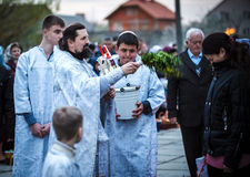 Easter Celebration in the Orthodox Church Stock Image