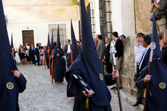 Easter celebration parade in Jerez, Spain. Jerez de la Frontera easter celebration, Spain Europe Royalty Free Stock Photography