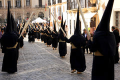 Easter celebration parade in Jerez, Spain Stock Images