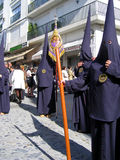 EASTER CELEBRATION PARADE IN JEREZ, SPAIN Stock Image