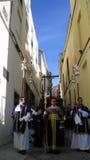 EASTER CELEBRATION PARADE IN JEREZ, SPAIN. Jerez de la Frontera easter celebration, Spain Europe. During this celebration, the Easter brotherhoods process Stock Photography