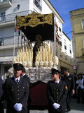 EASTER CELEBRATION PARADE IN JEREZ, SPAIN. Jerez de la Frontera easter celebration, Spain Europe.During this celebration, the Easter brotherhoods process through Royalty Free Stock Images