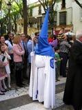 EASTER CELEBRATION PARADE IN JEREZ, SPAIN. Jerez de la Frontera easter celebration, Spain Europe.During this celebration, the Easter brotherhoods process through Royalty Free Stock Photos