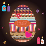 Easter celebration print - ornamental egg  Stock Photos