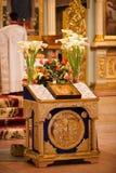 Easter, cerimónia da oração da igreja ortodoxa. Imagens de Stock Royalty Free