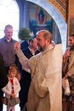 Easter, cerimónia da oração da igreja ortodoxa. Foto de Stock