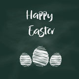 Easter chalkboard background Royalty Free Stock Images