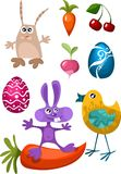 Easter characters Stock Photo