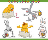 Easter characters cartoon set Royalty Free Stock Photo