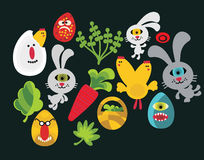 Easter characters for your design. Royalty Free Stock Image