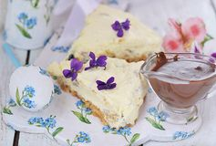 Easter cheesecake. Stock Photos