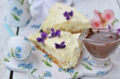 Easter cheesecake. Royalty Free Stock Photography
