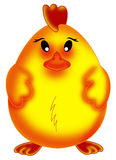 Easter chick. Color illustration of a sweet Easter chick Royalty Free Stock Photo