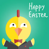 Easter chick. Business style. Stock Image