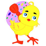 Easter chick. In Catholic Europe Easter holiday - it is a very cheerful, bright, colorful and joyful day. Early in the morning at the temples are service during Royalty Free Stock Photography