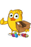 Easter Chick Character Stock Photo