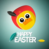Easter Chick - Chicken Card Royalty Free Stock Photos
