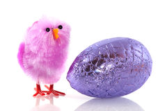 Easter chick with egg Stock Image