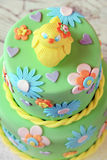 Easter chick fondant cake Royalty Free Stock Images