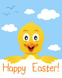 Easter Chick Greeting Card. Easter greeting card with a cute chick. Eps file available Stock Images
