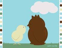Easter Chick meets Chocolate Royalty Free Stock Image