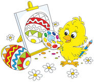 Easter Chick painter Royalty Free Stock Photo