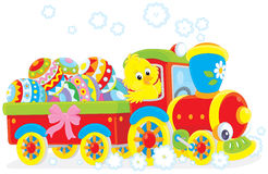 Easter Chick on a train Stock Images