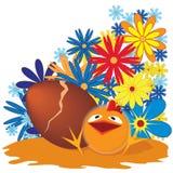 Easter chicken vector illustration