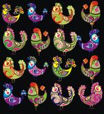 Easter chicken background Stock Images