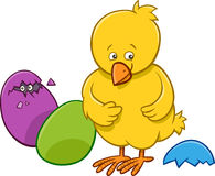 Easter chicken cartoon character Stock Photography