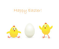 Easter chicken and egg Stock Photos