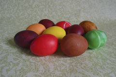 Easter chicken eggs with patterns royalty free stock images