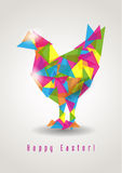 Easter chicken geometric vector Royalty Free Stock Photos