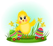 Easter chicken Stock Image