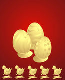 Easter chickens Stock Images