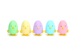 Easter Chicks. Five Little Easter Chicks Royalty Free Stock Images