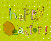 Easter chicks card Stock Photo
