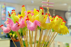 Easter chicks for decoration Stock Images