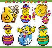 Easter chicks set cartoon illustration Royalty Free Stock Photo
