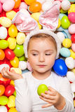 Easter childhood Stock Images
