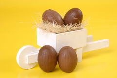 Easter chococart royalty free stock photography