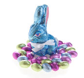 Easter chocolate bunny Royalty Free Stock Photography