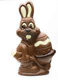 Easter chocolate bunny on a white background. Royalty Free Stock Images