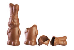 Easter chocolate bunny Royalty Free Stock Images